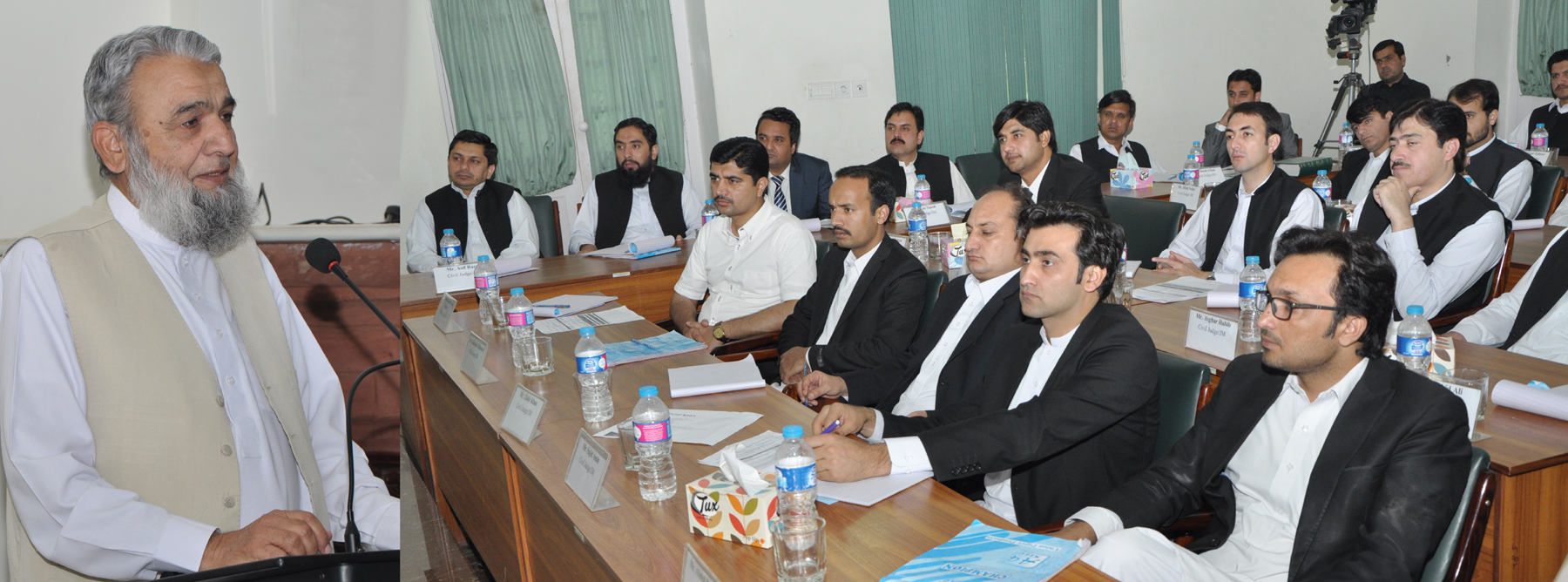 mr justice rtd muhammad raza khan delivered extension lecture on